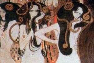 Klimt-Il fregio di Beethoven (particolare)