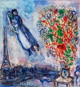 Gli sposi nel cielo di Parigi
