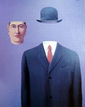 Magritte sogna ad occhi aperti arte per bimbi curiosi - Magritte uomo allo specchio ...