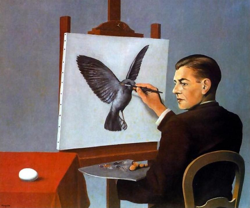 Magritte sogna ad occhi aperti arte per bimbi curiosi - Falso specchio magritte ...