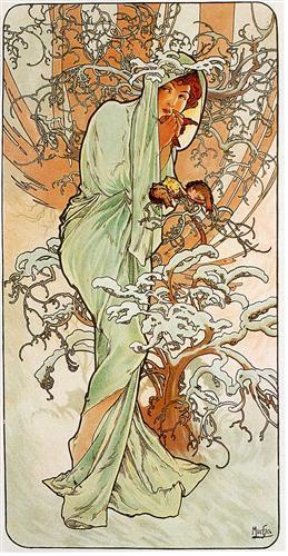 Alfons Mucha - Inverno