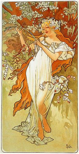 Alfons Mucha - Primavera